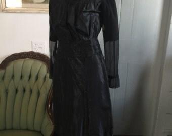1900's 1910's black silk sailor dress from RH Macy & Co