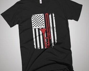 Trombone USA American Flag T-Shirt
