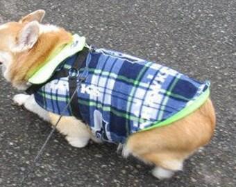 Fleece Dog Coat/Jacket with Seahawks theme