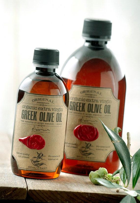 Organic Extra Virgin GREEK OLIVE OIL ~ Organic Olive Oil ~ Moisturizing Oil ~ Organic Skin Care ~ Natural Skin Hydration ~ Nourishing Oil