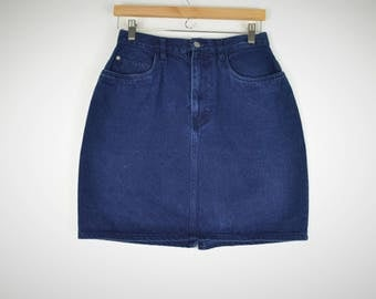 Dark Blue Denim Jean Skirt- Mini Skirt