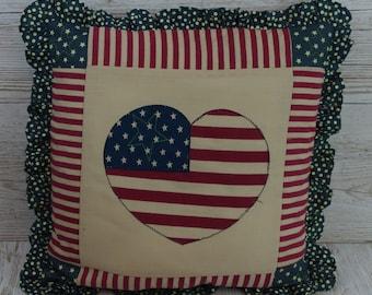 USA Cushion Decorative Stars & Stripes Cushion Filled  Birthday Nan Large 30 x 30 CM HKY63666
