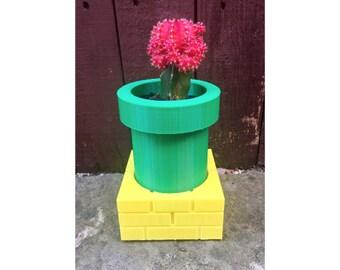 Warp Tube Planter, Warp Pipe Succulent Planter 3D Printed