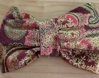 Christmas Clip On Bow Tie