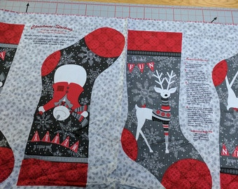 Holiday Magic Christmas Stocking Panel-Cotton Fabric-from Henry Glass