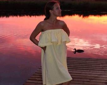 Dress - skirt, two in one, long skirt, short dress, summer dress