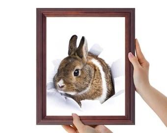 Bunny Print, Rabbit face, Rabbit print, Animal Wall Art, Nursery Decor, Printable Nursery Bunny, Woodlands Decor, Cute Rabbit, Nursery decor