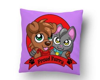 Proud furry cushion anthro (16x16) - cartoon dog cat anime