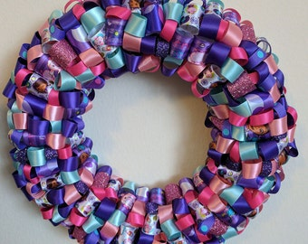 Kid inspired character ribbon wreath