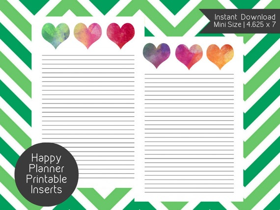 Mini Happy Planner BLANK PAGE Printable Inserts Create 365