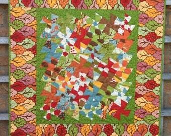 Twister Quilt. Patchwork,Table Topper. Stroller Quilt. Home Decor.Handmade.Modern.Baby Quilt.Floor Quilt.Bright.
