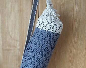 Large Yoga Mat Bag / Crochet Yoga Mat Bag / Pilates Mat Holder / Carrier / Ready to ship