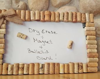 Wine Cork Bulletin Magnet Dry Erase Board, Wine Cork Board