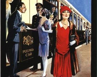 Vintage Golden Arrow Orient Express Railway Poster A3/A2/A1 Print