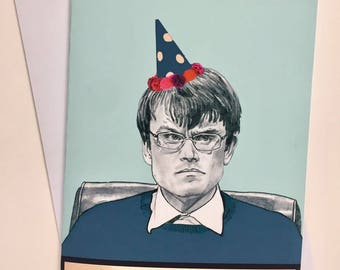 University Challenge A5 Illustrative Birthday Card - Monkman