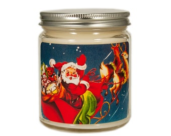 Christmas Candle, Holiday Candle Scented Candle, Vintage Candle, Container Candle, Soy Candle, Vintage Christmas Candle, Christmas Decor