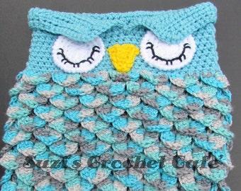 Lil' Owl Cocoon Crochet Pattern