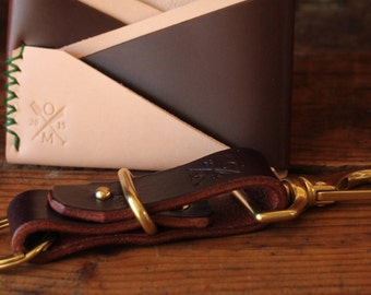 Large Leather Key Fob with Solid Brass Hardware
