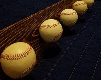 Real Baseball Coat and Hat Rack