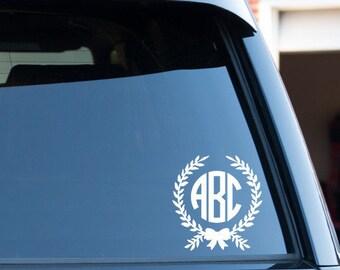 Customize Monogram Circle Font Car Window Decal