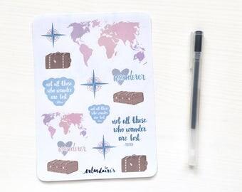 Travel & hikers sticker sheet