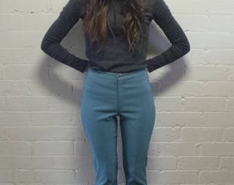 Teal Fitted Pant