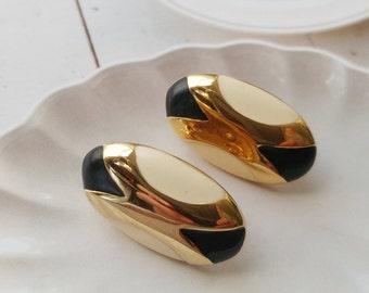 Vintage Napier Screw Back Earrings  Art Deco Design Earrings
