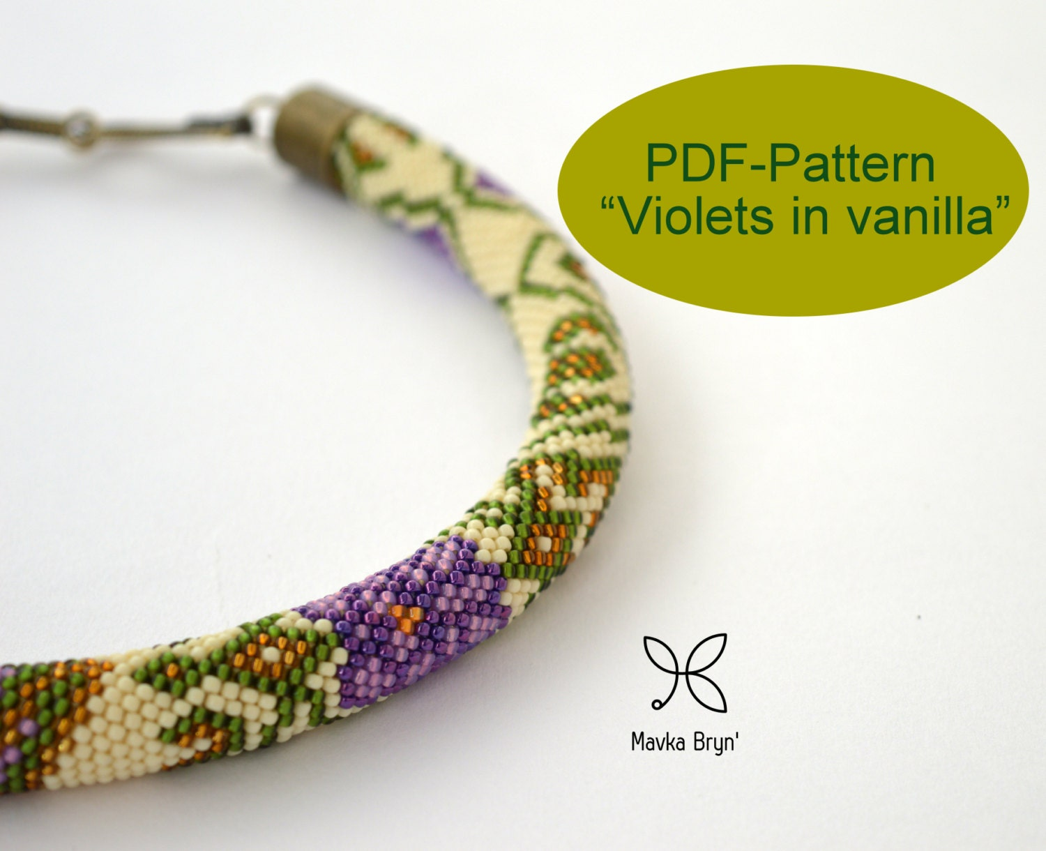 Beaded necklace tutorial floral crochet necklace tubular bead this is a digital file bankloansurffo Image collections