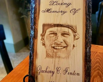 Custom Memorial, In Memory of a Loved One, Engraved Photo, Personalized Gift, Memorial Gift, Sympathy Gift, Funeral Gift, Condolence, Family