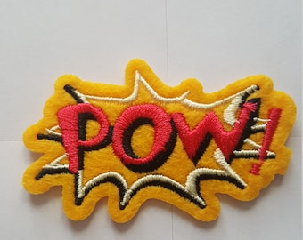 POW Comic book style Iron on Sew On Patch