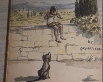 Vintage Illustrated Children's Book For the Leg of a Chicken Bettina