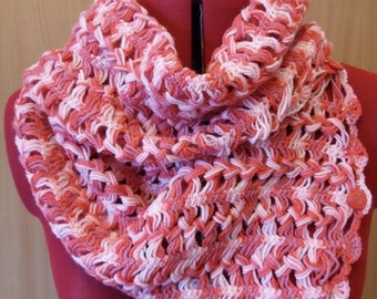 loom red white scarf, beautiful crochet scarf, crochet lace scarf, crochet scarf, lace scarf