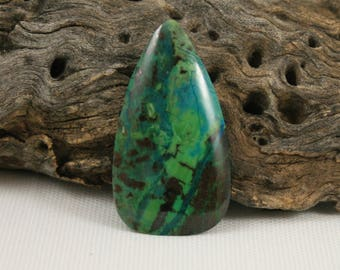Parrot Wing Chrysocolla 49 x 27 Cabochon (3)