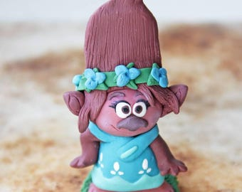 Trolls Movie Princess Poppy Poppy Troll Polymer Clay Figurine Collectibles Kids Room Decor