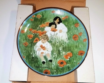 AMONG THE POPPIES by Jessie Willcox Smith Collectible Plate- A Garden Of Verses Plate Collection 0179J Decor The Hamilton Collection 1984