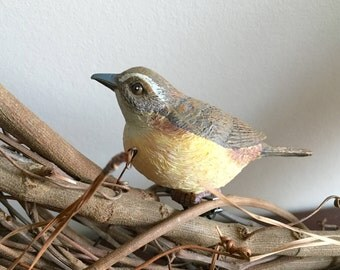 2Pk Wrens, Clip On Bird Decorations, Wreath Decoration, Bird Cage Decoration, Birdhouse decoration