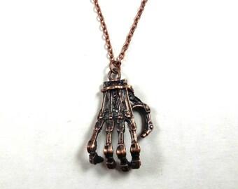 Terminator Hand Necklace
