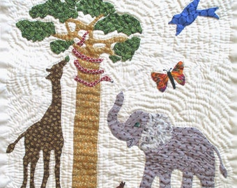 Elephant Quilt Block Pattern for Nature's Bounty Quilt