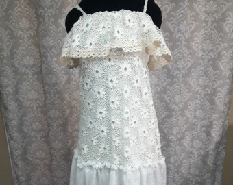 Boho Lace Wedding Dress, Tattered Wedding Dress, Fairy Wedding Dress, Boho Beach Wedding Dress, Lace Wedding Dress, Simple Wedding Dress