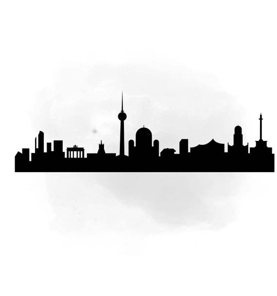City Skyline Berlin Svg Clipart International City