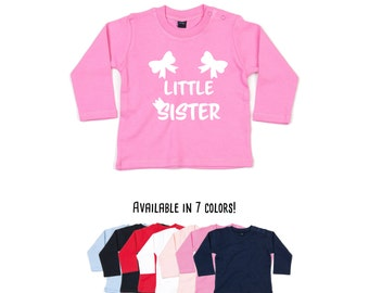 Baby sister shirt, baby longsleeve, pregnancy announcement shirt, baby shirt, baby announcement, new little sister shirt, gift for sister