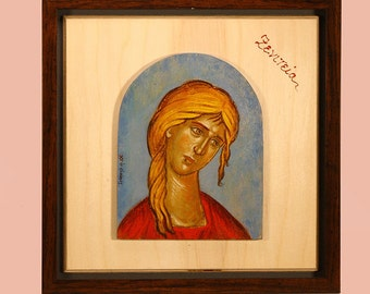 Personification, paintings on wood, egg-tempera. Collectible items.
