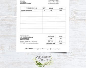 What Is An Invoices Word Photography Invoice  Etsy No Vat Number On Invoice Pdf with Payment Against Proforma Invoice Excel Photography Invoice Client Invoice Form For Photographers Photography  Forms Plus Studio Stationery Template Neat Receipts Scanner Review Word