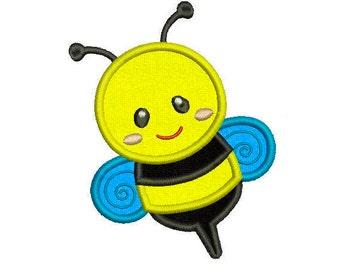 6 sizes - Bumble Bee Applique Design, Machine Embroidery, Bumble Bee Embroidery Design, Instant Download, Kids Applique