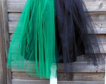 Tutu skirt, tutu two-tone, black tutu, tulle, tutu skirt Gothic skirt, skirt alternative, wicca, wicca, witch, pagan, unique skirt skirt.