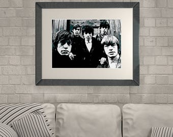 The Rolling Stones Poster Rolling Stones Print Rolling Stones Printable Rolling Stones Download Rolling Stones Vintage Photo Digital Art
