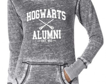 Harry Potter Hogwarts Alumni Vintage Acid Washed Fleece Hoody
