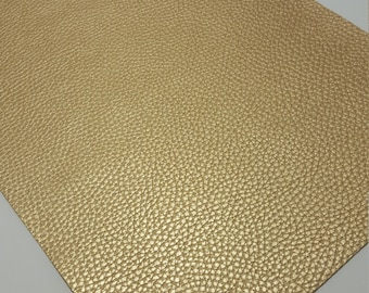 GOLD TEXTURED LEATHER faux leather sheet,8x11 faux leather,fake leather,faux leather,gold faux leather,vegan leather,faux leather fabric