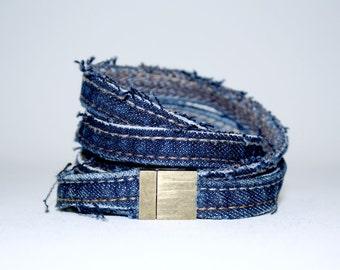 Jean Upcycled bracelet