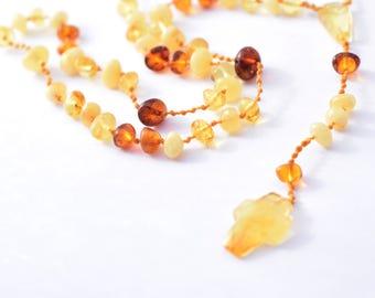 Baltic Amber Rosary With Cross Pendant Natural Handmade Genuine pure amber beads beaded rosary amber